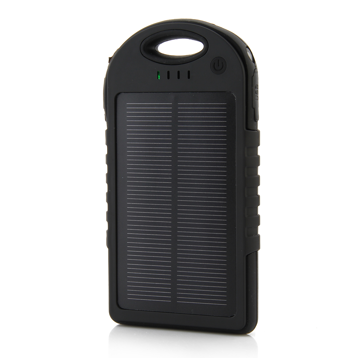 12000mAh Waterproof USB Solar Charger Power Bank Shakeproof Dust Proof Black