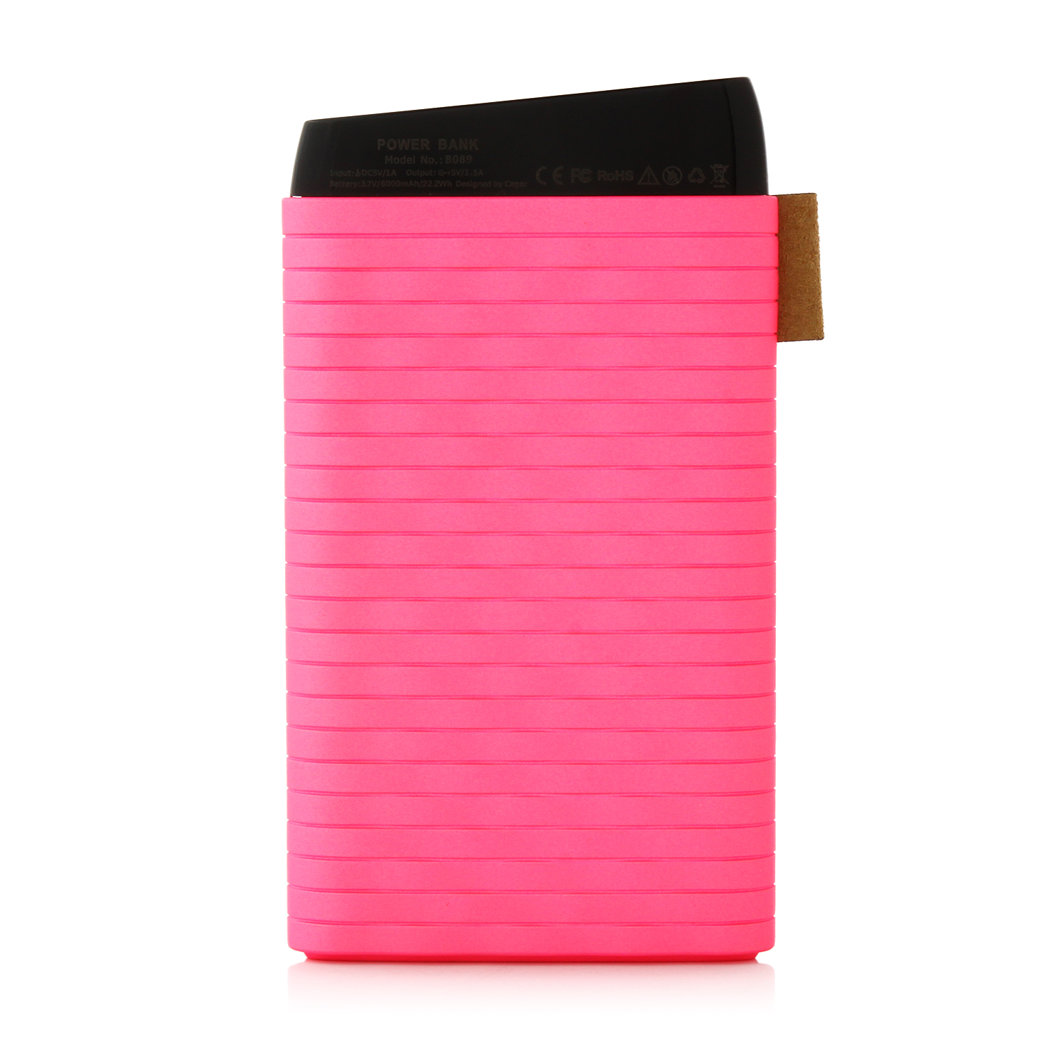 Cager B089 6000mAh Ultra Slim USB Power Bank for Smartphones Tablet PC Pink