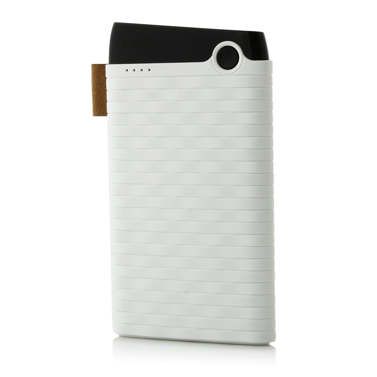 Cager B089 6000mAh Ultra Slim USB Power Bank for Smartphones Tablet PC White