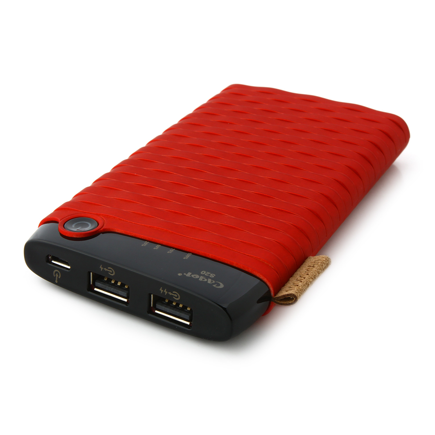 Cager S13 10000mAh Portable Dual USB Output Power Bank for Smartphones Tablet PC Red