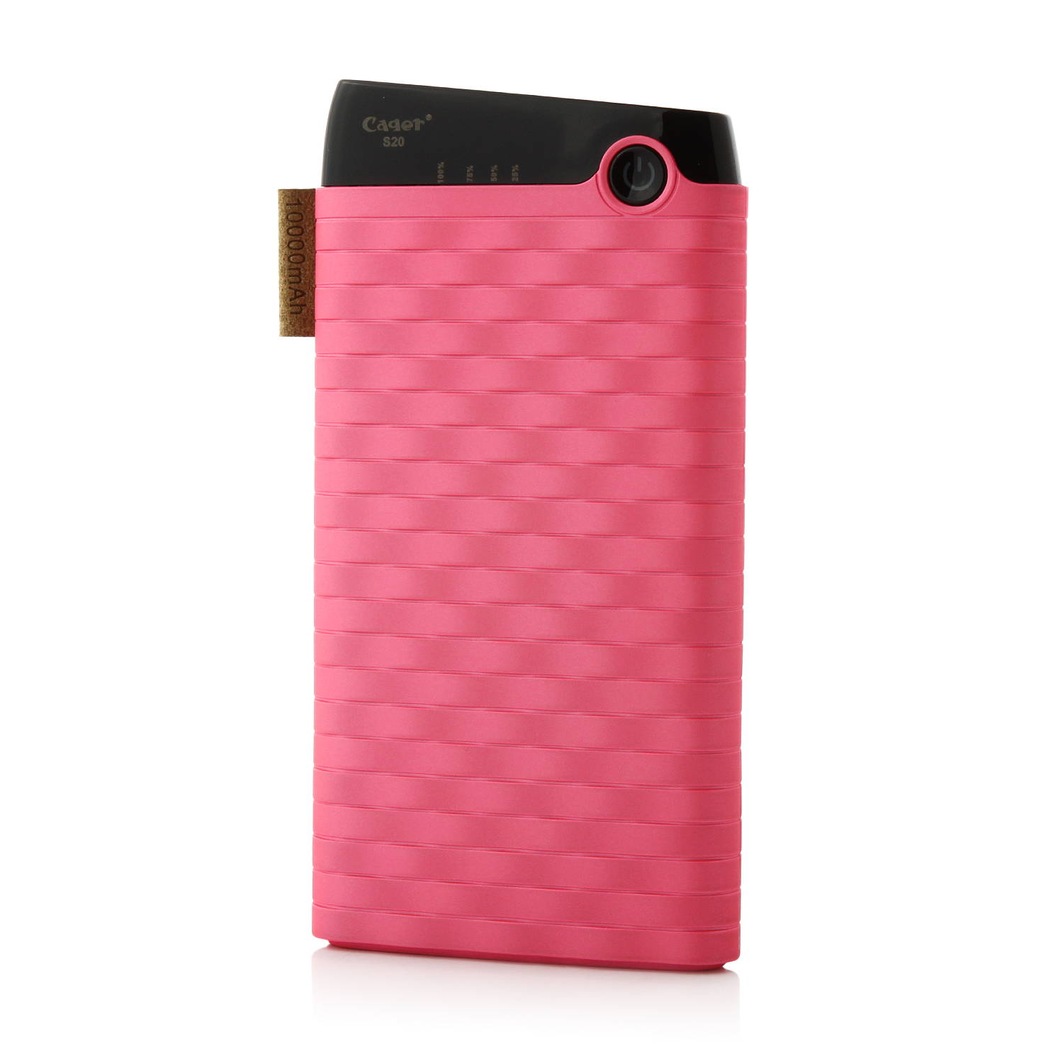 Cager S13 10000mAh Portable Dual USB Output Power Bank for Smartphones Tablet PC Pink