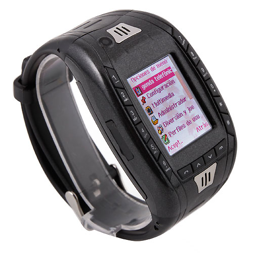 AK11 Watch Phone Single SIM Card Camera FM Bluetooth Ebook 1.2 Inch Touch Screen- Black