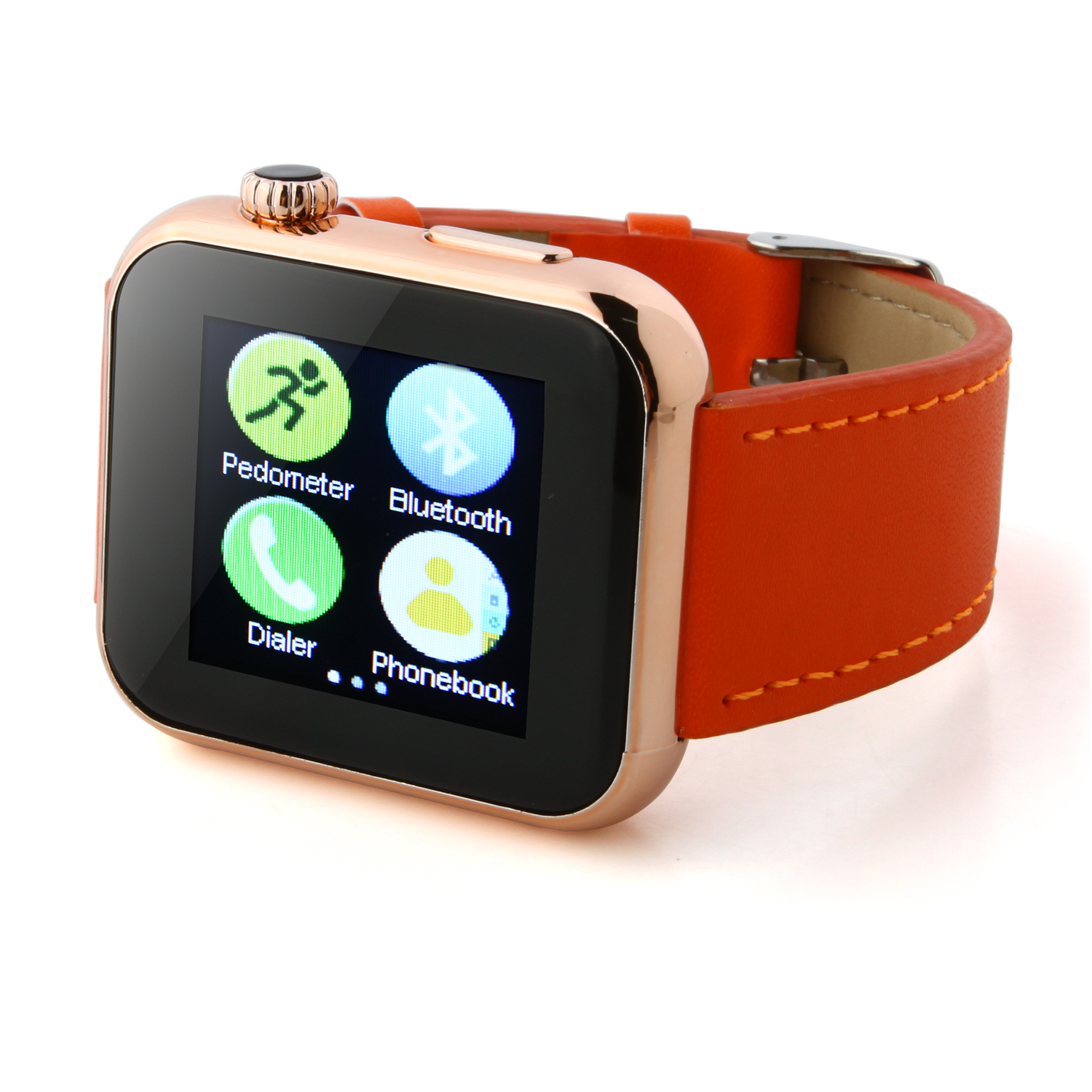 Atongm AW08 Bluetooth Watch Smart Watch with Call MMS Pedometer Anti-lost Qrange