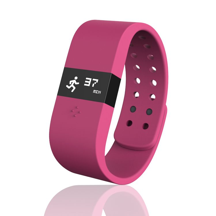 ERI Fitness Activity Tracker Bracelet IP57 Pedometer Sleep Monitor for Android iOS Rosy