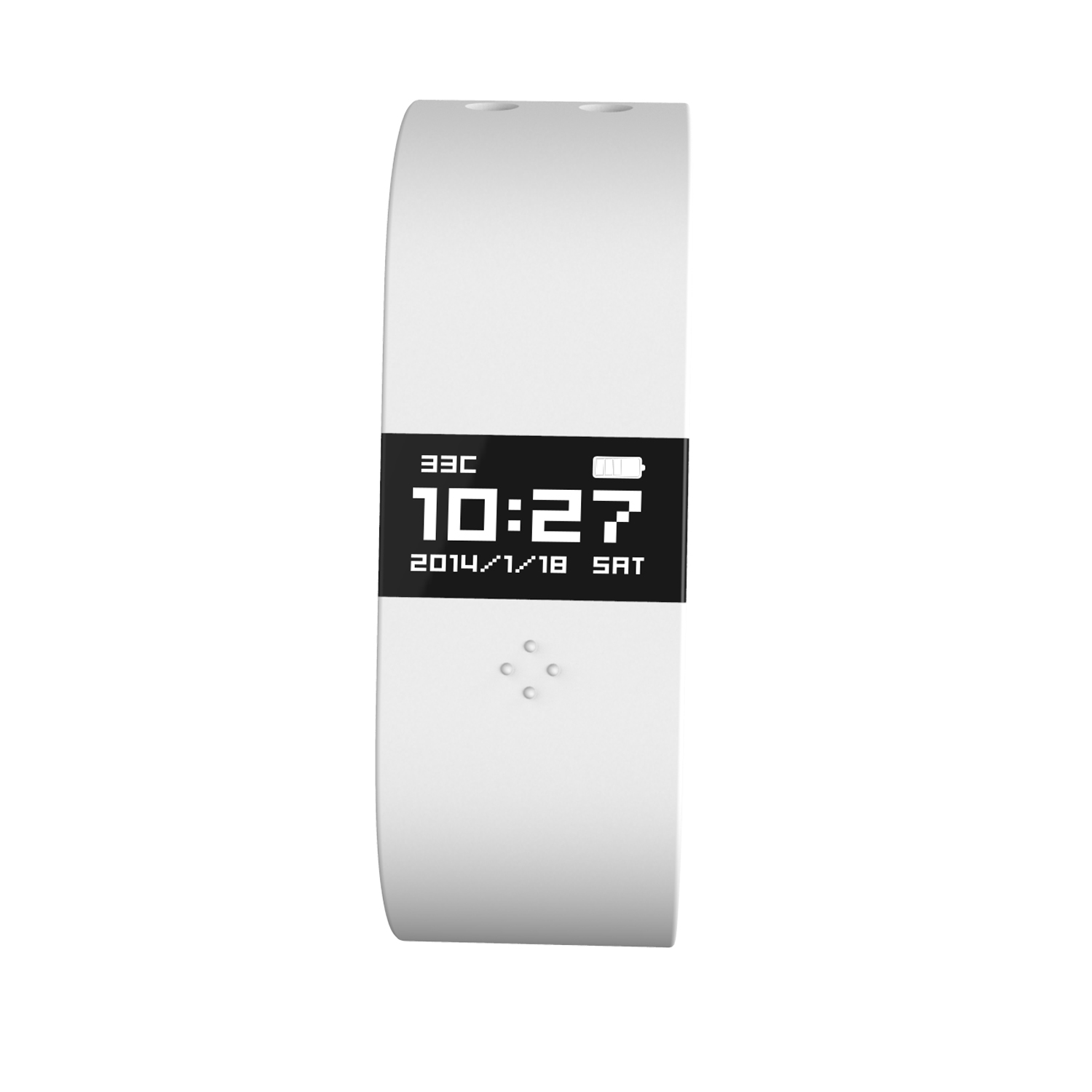 ERI Fitness Activity Tracker Bracelet Pedometer Sleep Monitor for Android iOS White