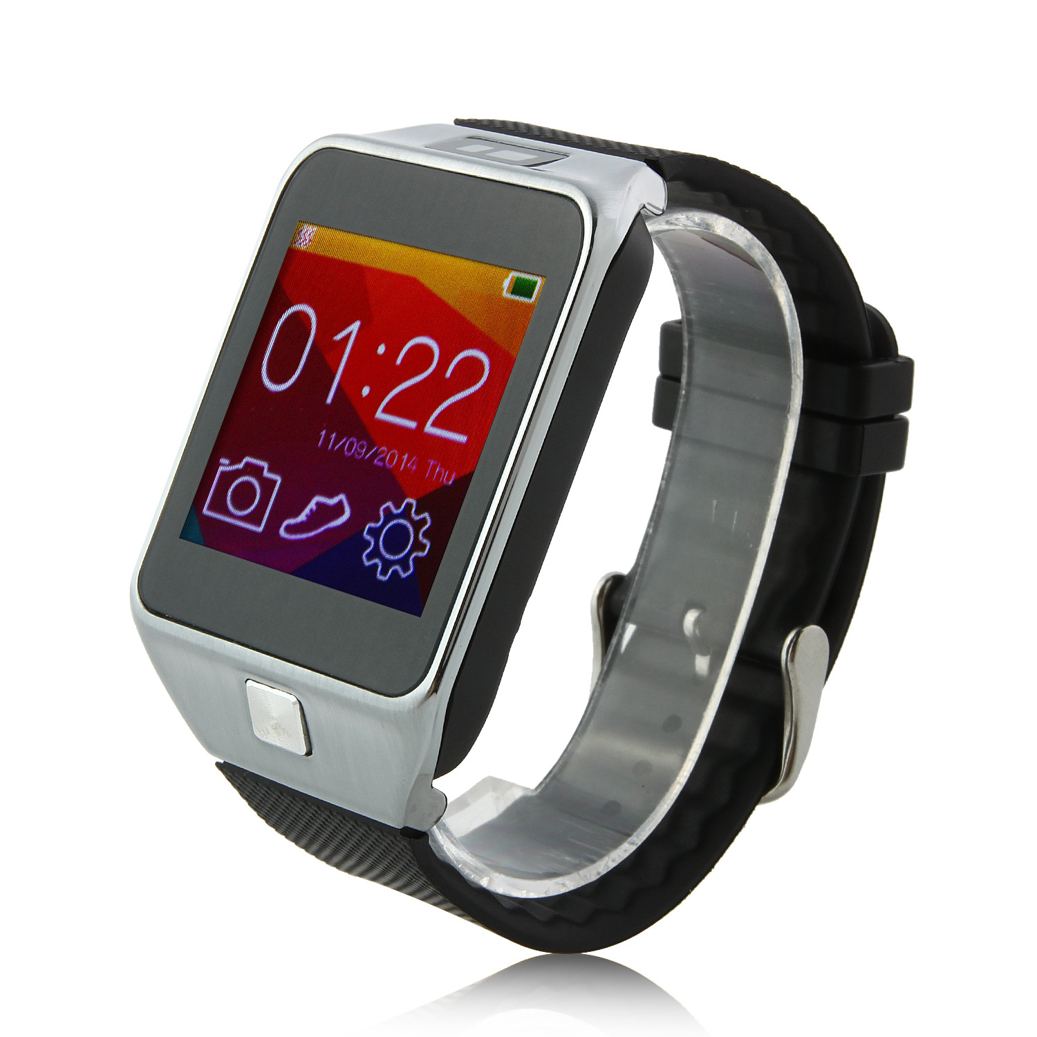 V8 Smartwatch Bluetooth 4.0 Sync Pedometer Sleep Monitor Remote Camera for Smartphone