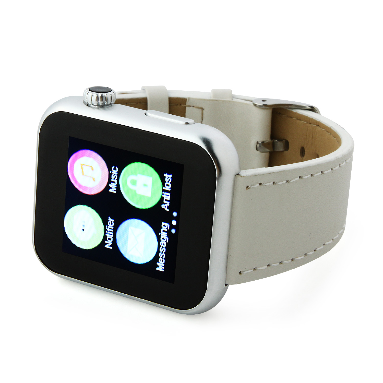 Atongm AW08 Bluetooth Watch Smart Watch with Call MMS Pedometer Anti-lost White