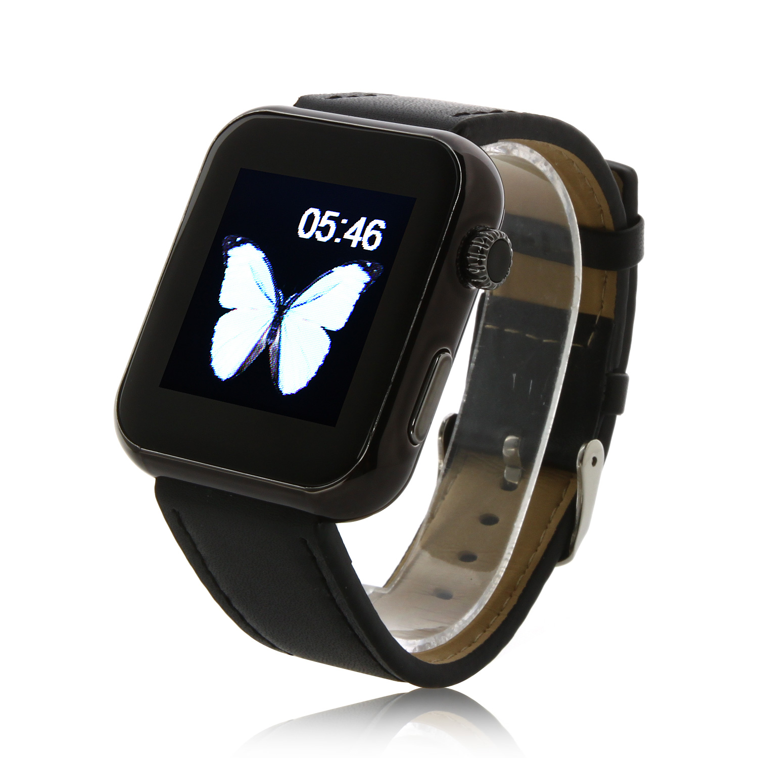 Atongm AW08 Bluetooth Watch Smart Watch with Call MMS Pedometer Anti-lost Black