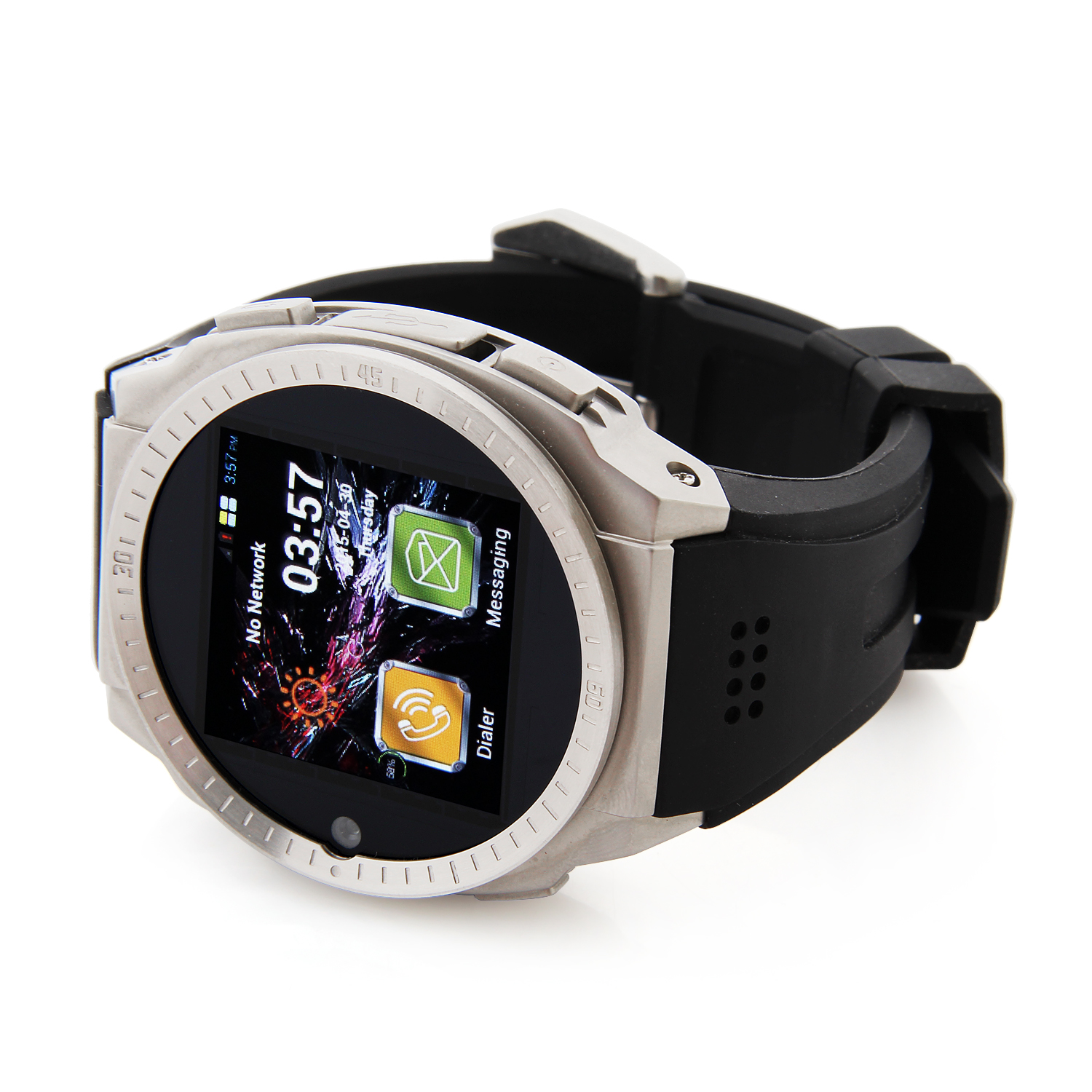 "TOP WATCH TW9001 MTK6572W Dual Core 1.55"" Touch Screen Phone Watch 3G GPS"