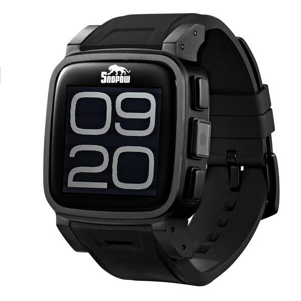 Snopow W1 Smart Watch Phone Bluetooth Watch IP68 1.6 inch Camera Black