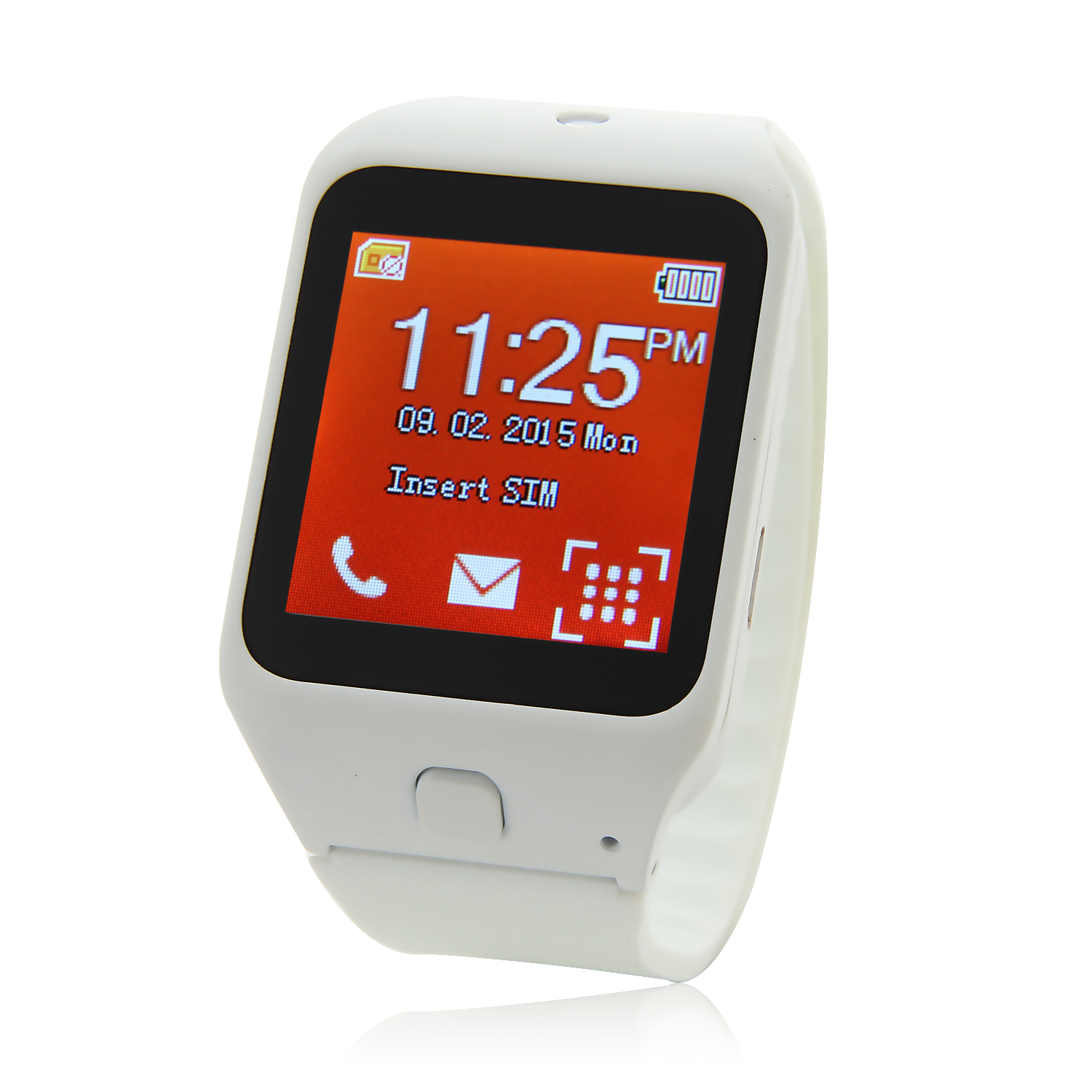 Atongm W003 Smart Watch Phone 1.44 Inch Touch Screen Bluetooth Camera FM White
