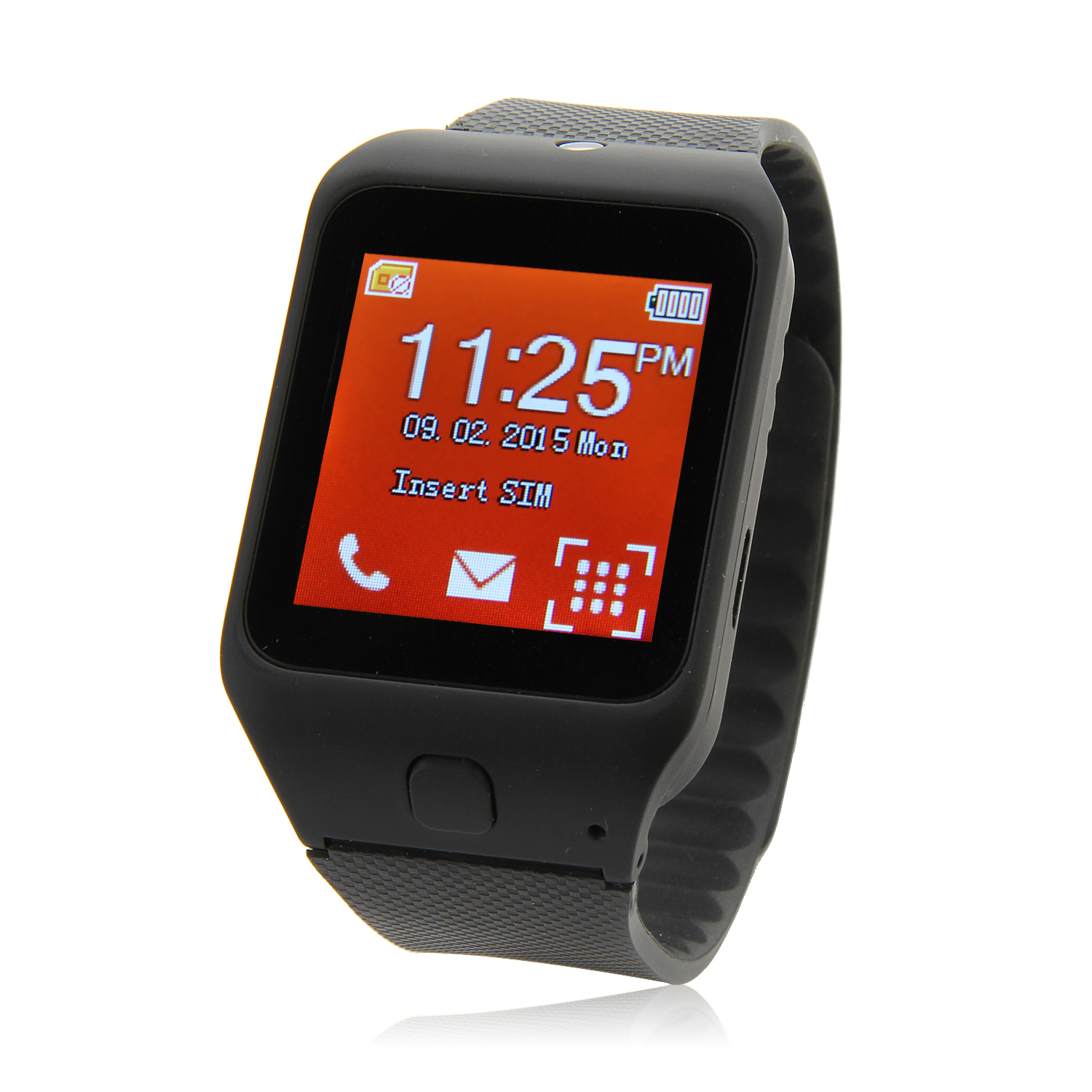 Atongm W003 Smart Watch Phone 1.44 Inch Touch Screen Bluetooth Camera FM Black