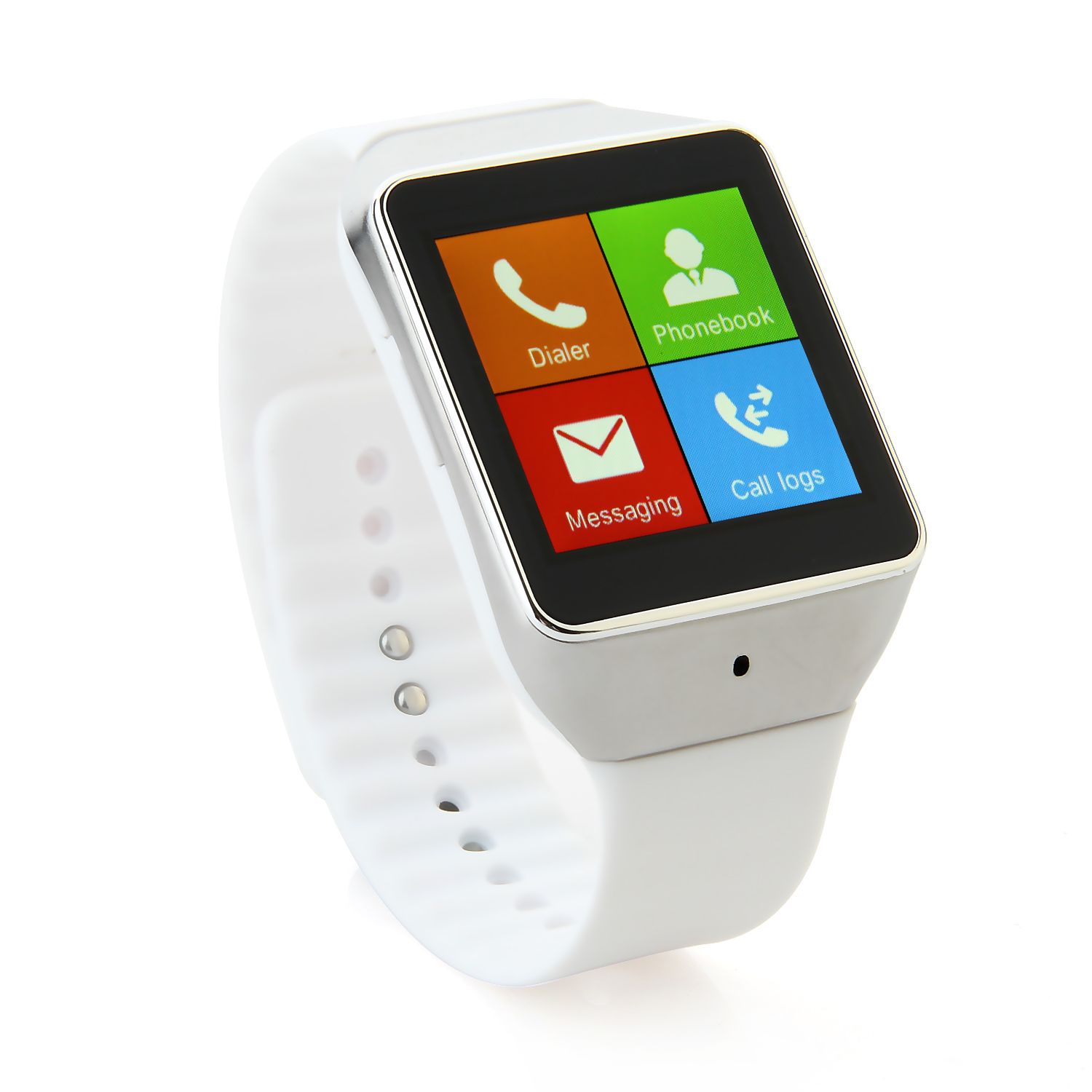 Atongm W006 Smart Bluetooth Watch 1.54 Inch Touch Screen with Mic - White