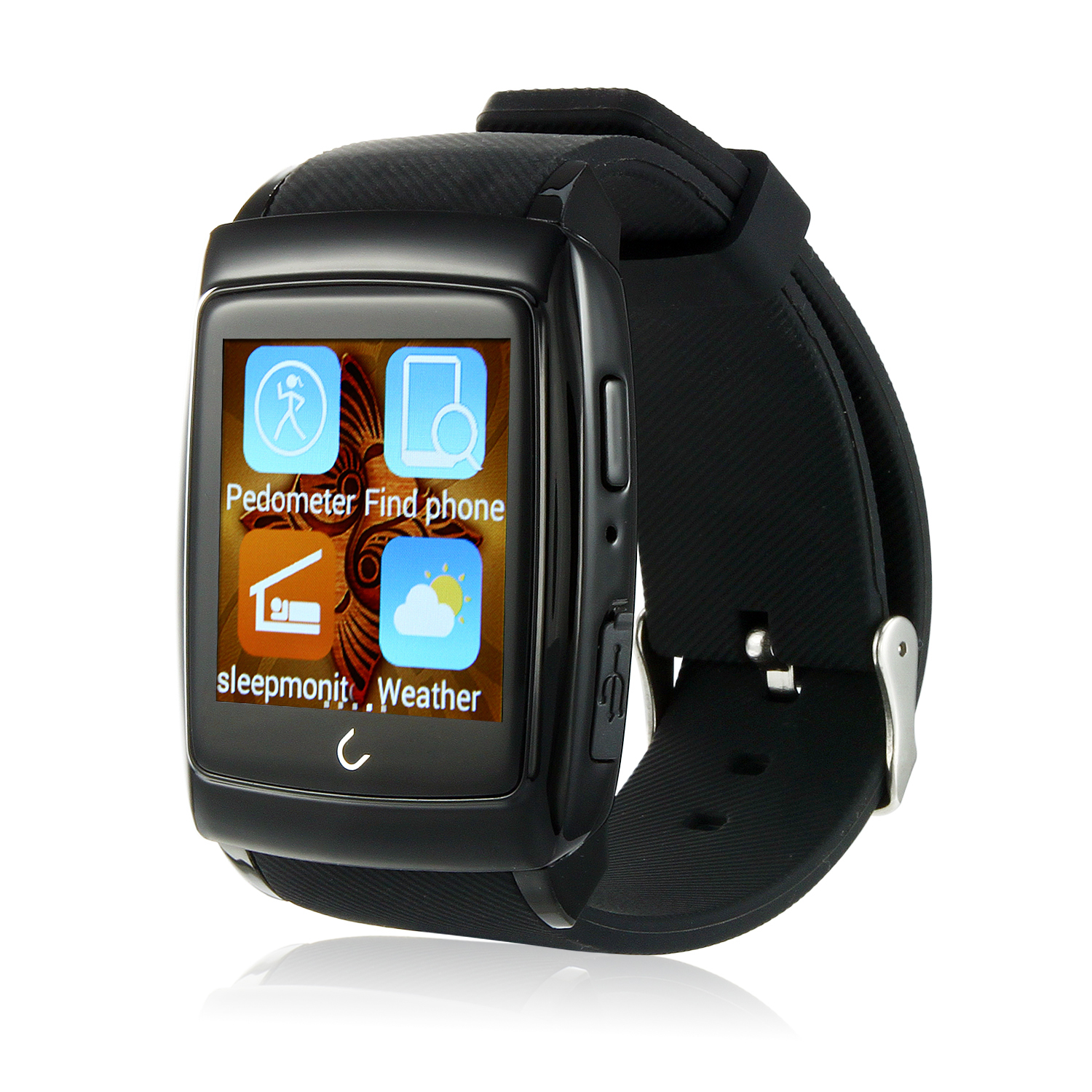 Uwatch U18 MTK6571 1.54 Inch IPS Screen Android 4.4 Bluetooth 4.0 Nano Waterproof Black
