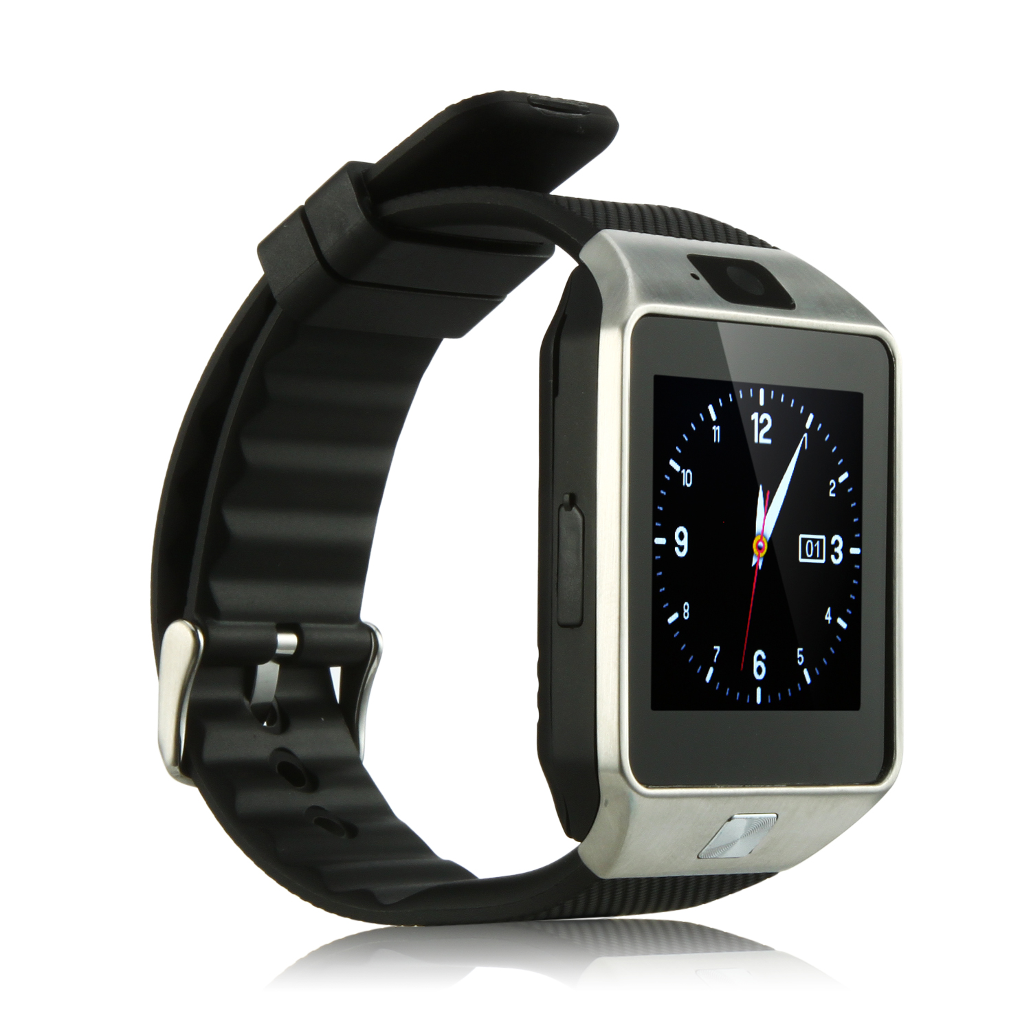 D3 Smart Watch Phone Bluetooth Watch 1.54 Inch Touch Screen Bluetooth Camera FM Black