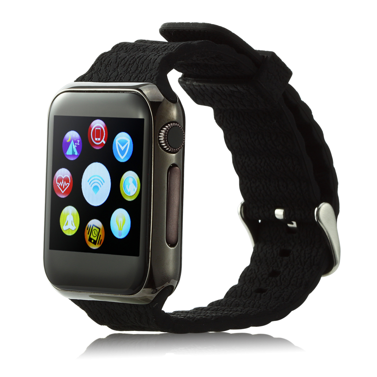 Marknano V9 Smart Watch Phone Bluetooth Watch 1.54 inch Touch Screen Heart Rate Black