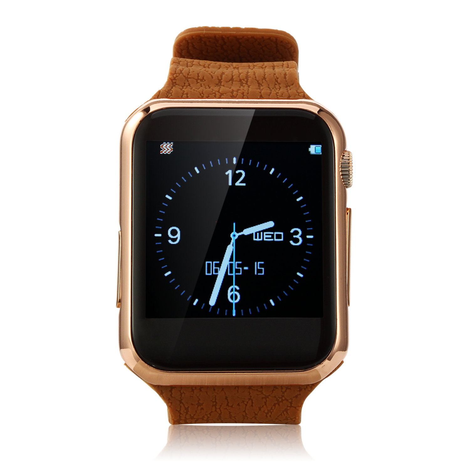 Marknano V9 Smart Watch Phone Bluetooth Watch 1.54 inch Touch Screen Heart Rate Brown