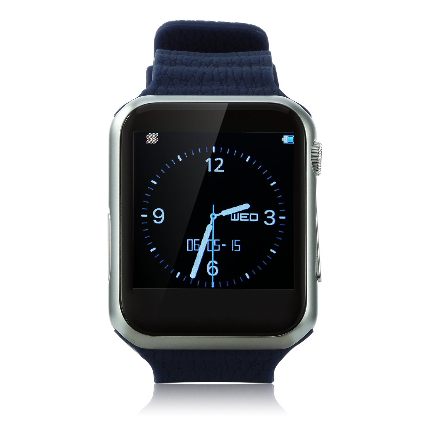 Marknano V9 Smart Watch Phone Bluetooth Watch 1.54 inch Heart Rate Dark Blue&Silver