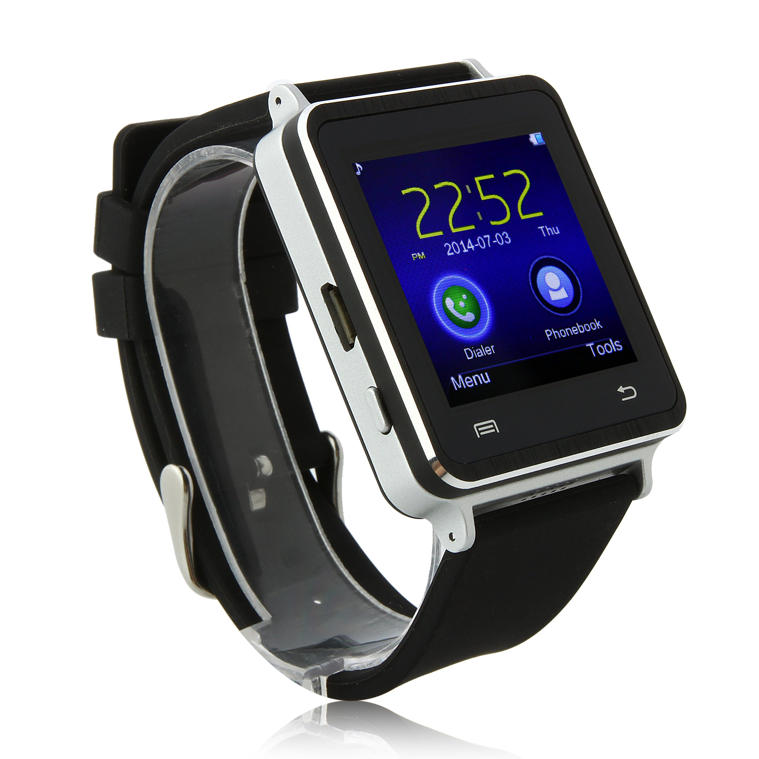Iradish I7 Smart Bluetooth Watch Touch Screen for Android Devices 1.54 Inch - Silver