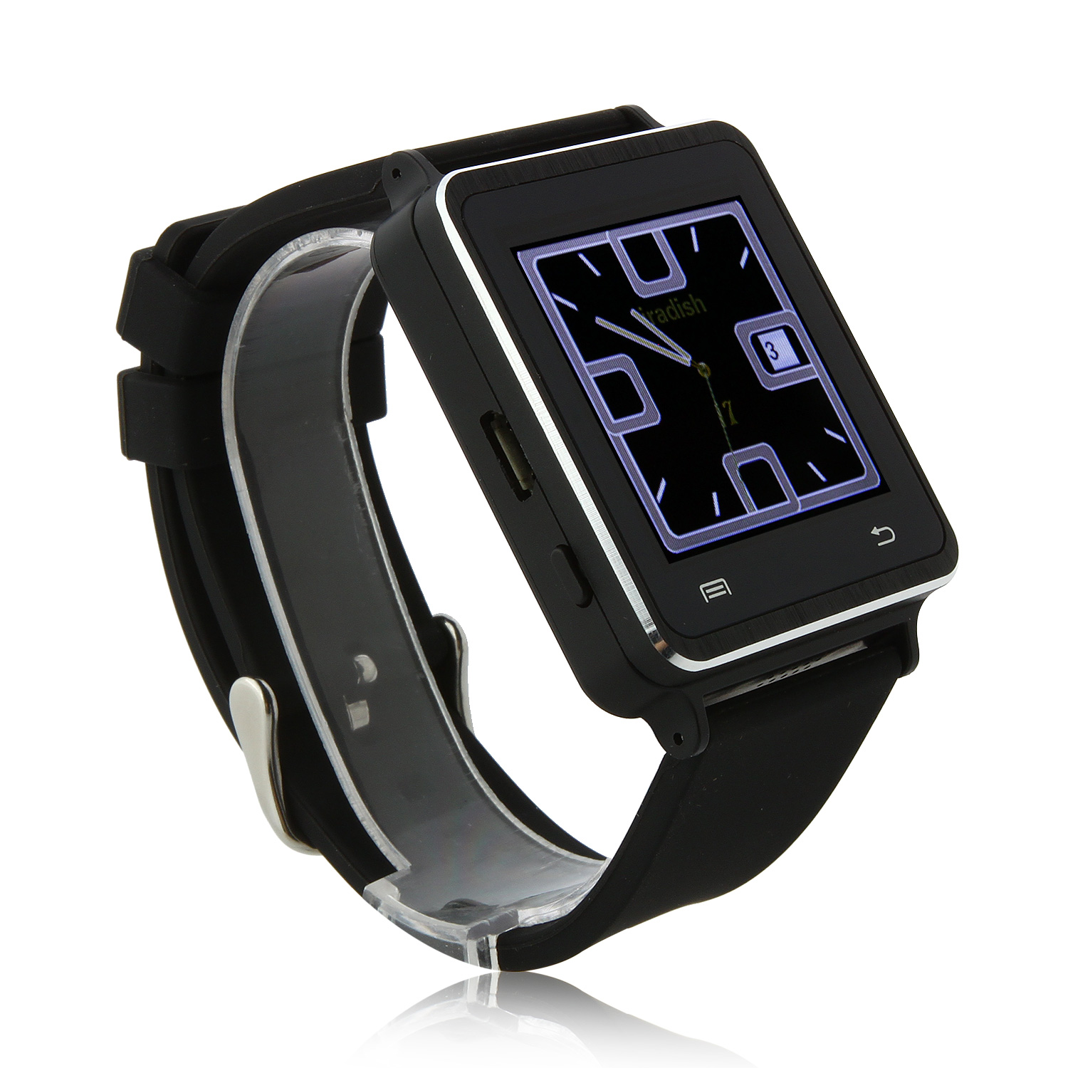 Iradish I7 Smart Bluetooth Watch Touch Screen for Android Devices 1.54 Inch - Black