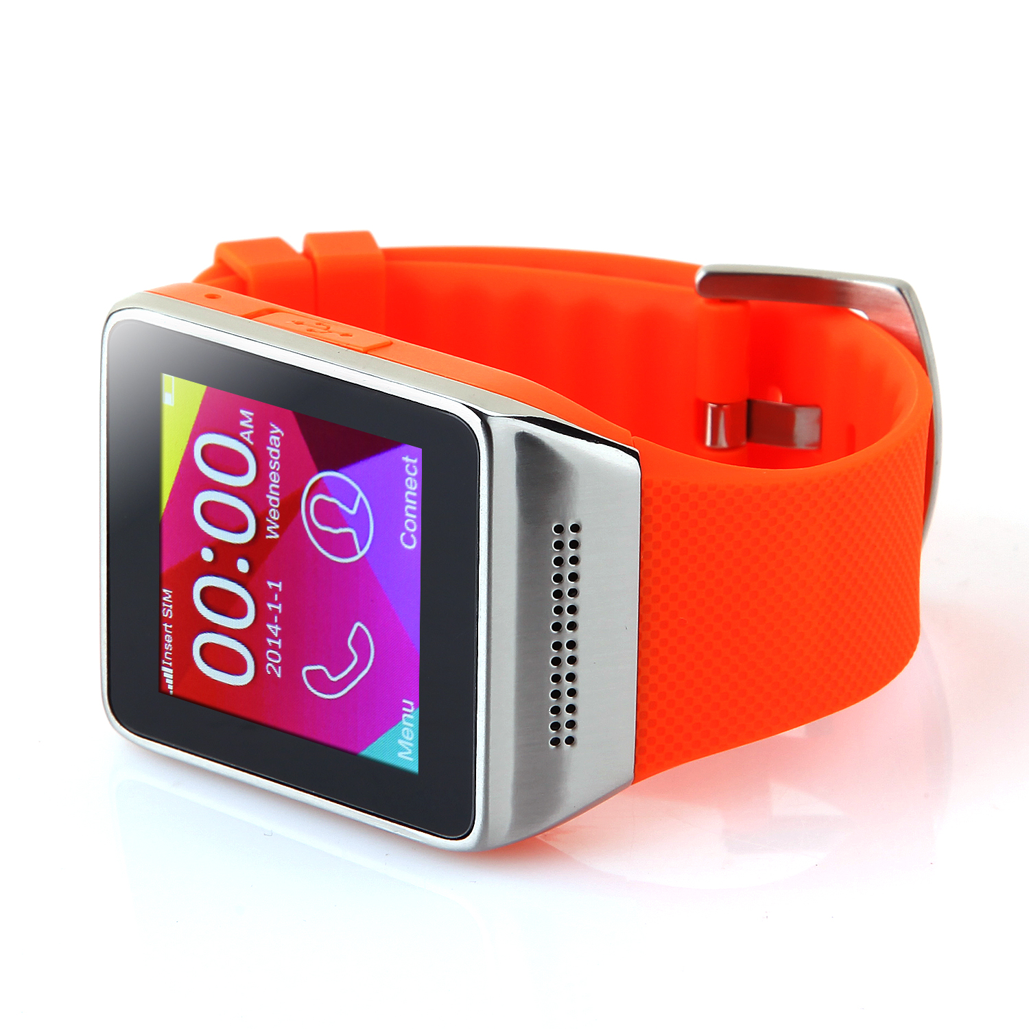 Atongm W008 Smart Watch Phone Bluetooth Watch 1.54 Inch Pedometer Anti-lost Orange