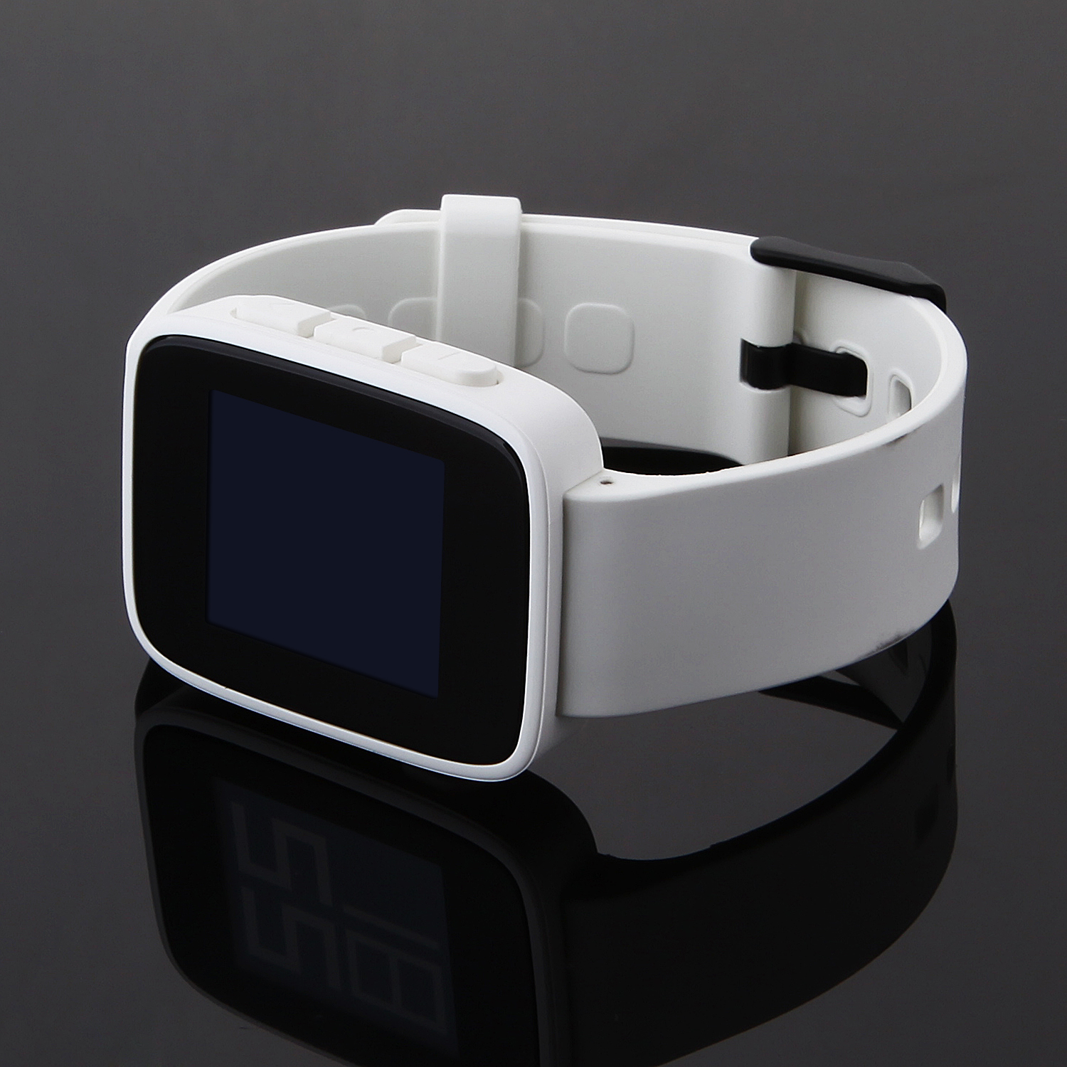 "WeLoop Tommy 1.26"" LCD Smart Watch w/ Bluetooth 4.0 Support Message Display -White"