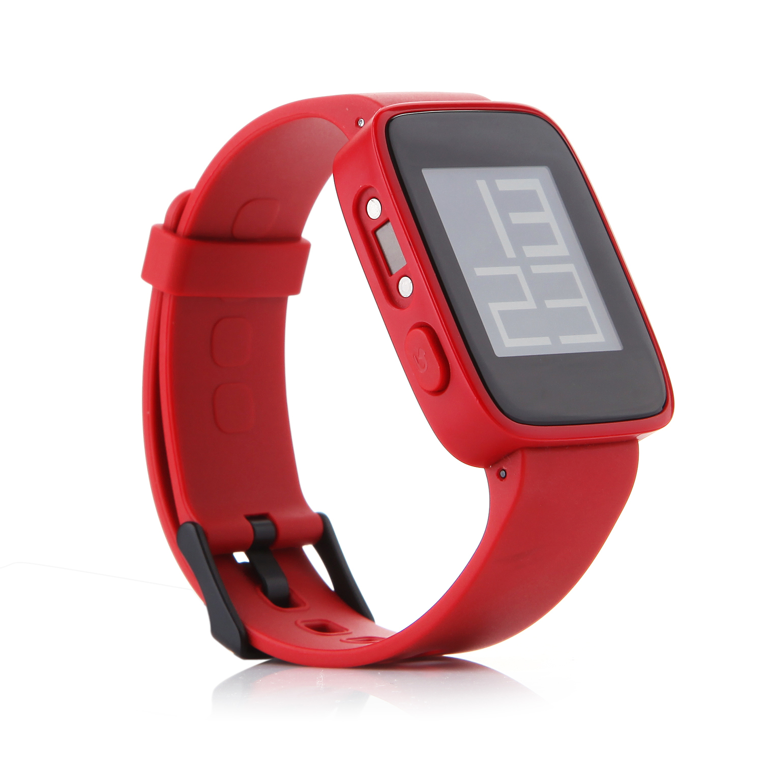 "WeLoop Tommy 1.26"" LCD Smart Watch w/ Bluetooth 4.0 Support Message Display -Red"