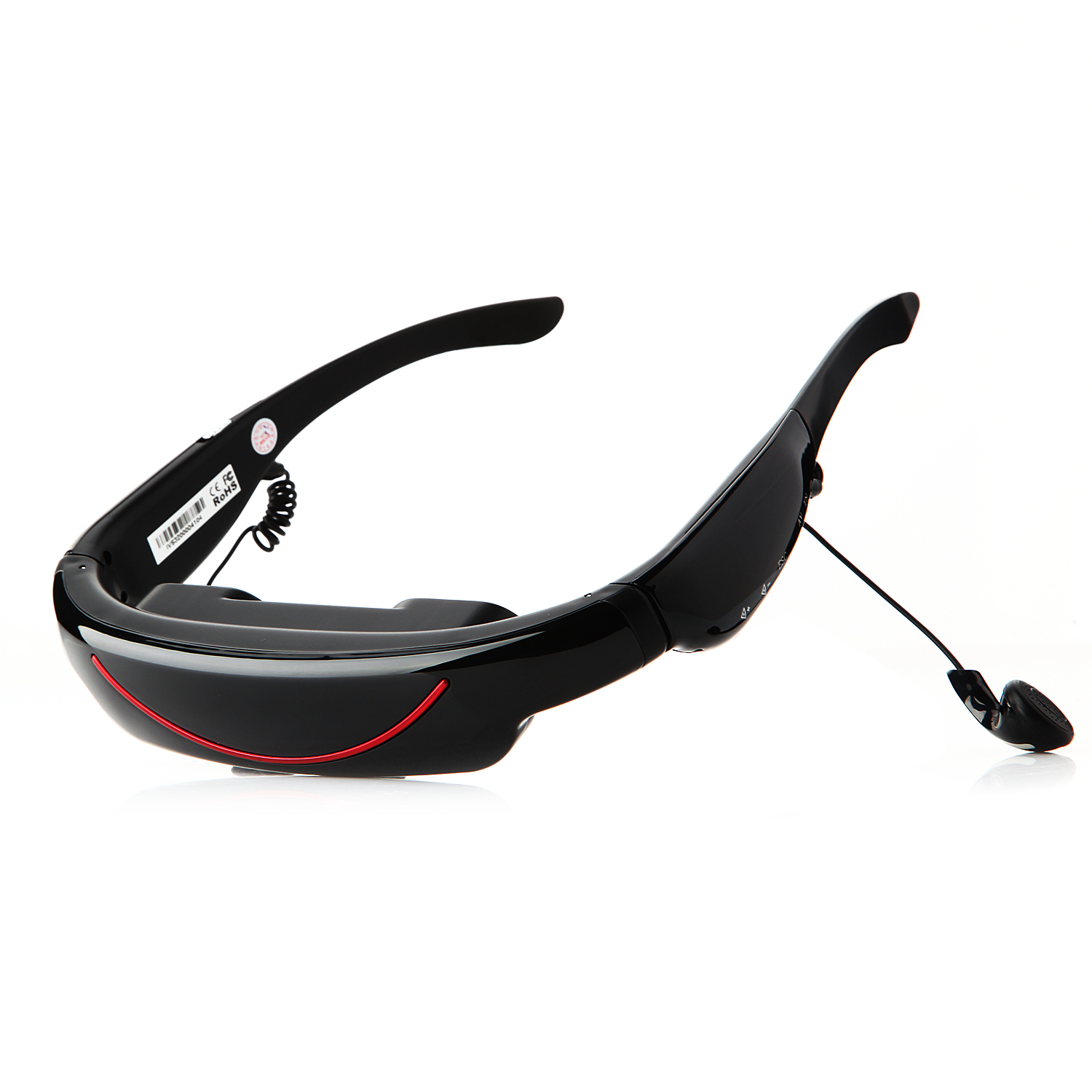 72 Inch 16:9 Wide Screen Virtual Video Glasses with AV Input 4GB Flash for iPhone iPad