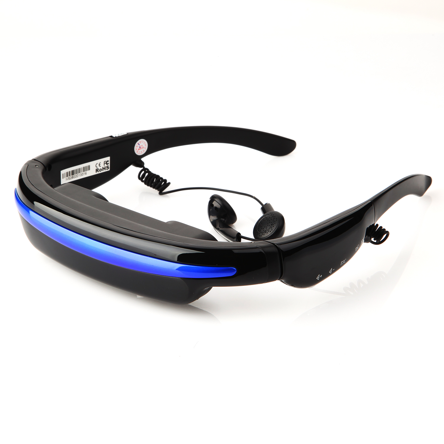 Virtual Private Theater System 52'' 4:3 Display HD 3D Stereo 4GB Flash Video Glasses