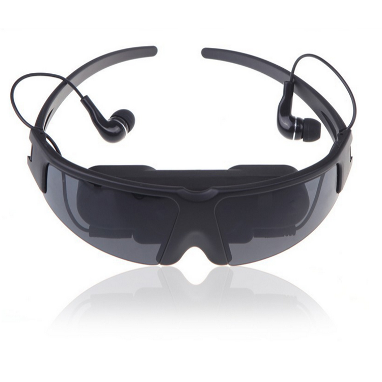 "Portable Eyewear 52"" Wide Screen Virtual Video Glasses with AV Input for iPad/iPhone"