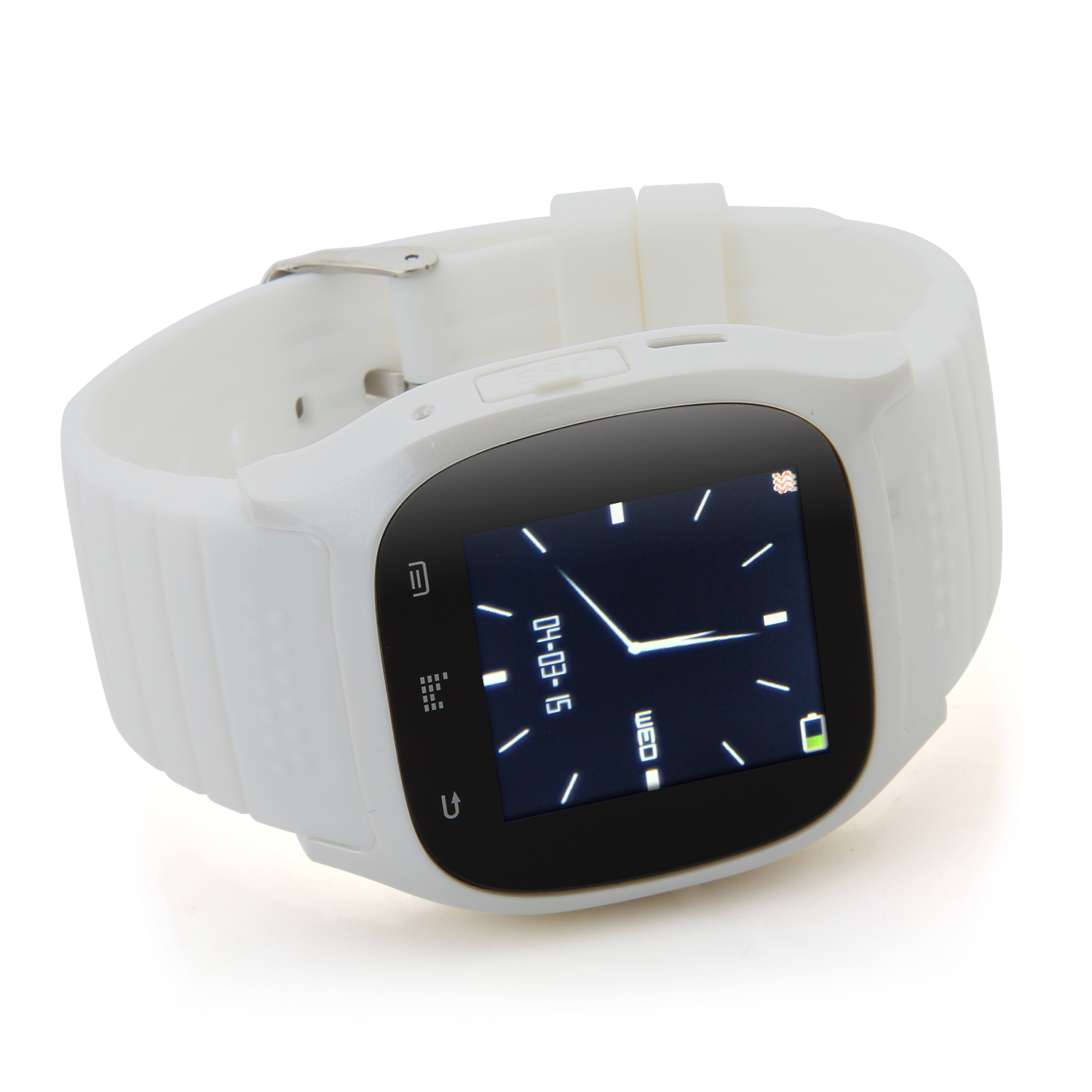 "Rwatch M26S 1.44"" IP57 Smart Bluetooth Watch with Mic Pedometer Push Messages White"