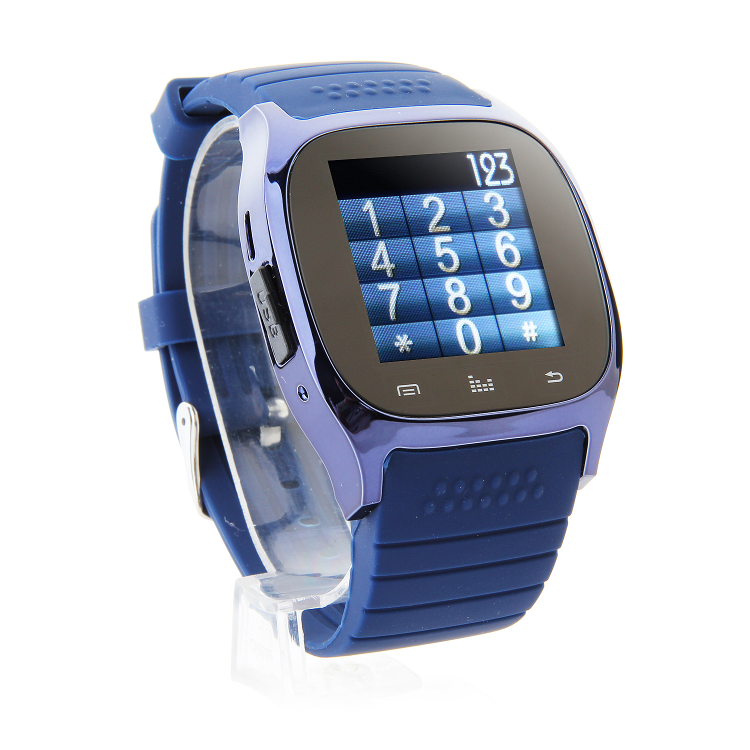 "Rwatch M26S 1.44"" IP57 Smart Bluetooth Watch with Mic Pedometer Push Messages Blue"