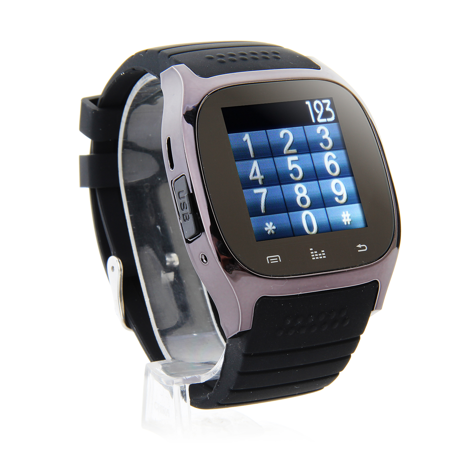 "Rwatch M26S 1.44"" IP57 Smart Bluetooth Watch with Mic Pedometer Push Messages Black"