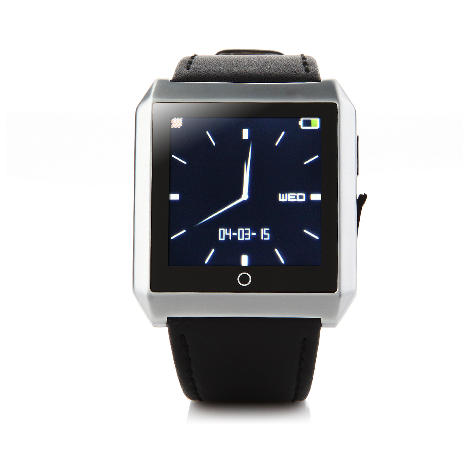 RWATCH R6S Bluetooth Smart Remote Control Watch for iOS Android Smartphones Silver