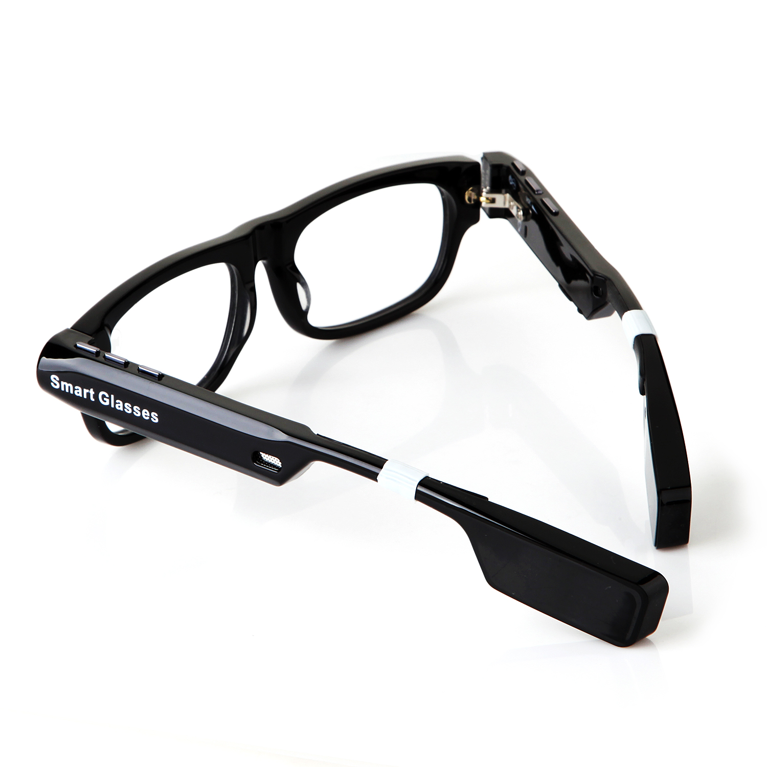 V3 Smart Glasses Camera Bluetooth Call and Music with Flash Light Mic. GPS Transparent