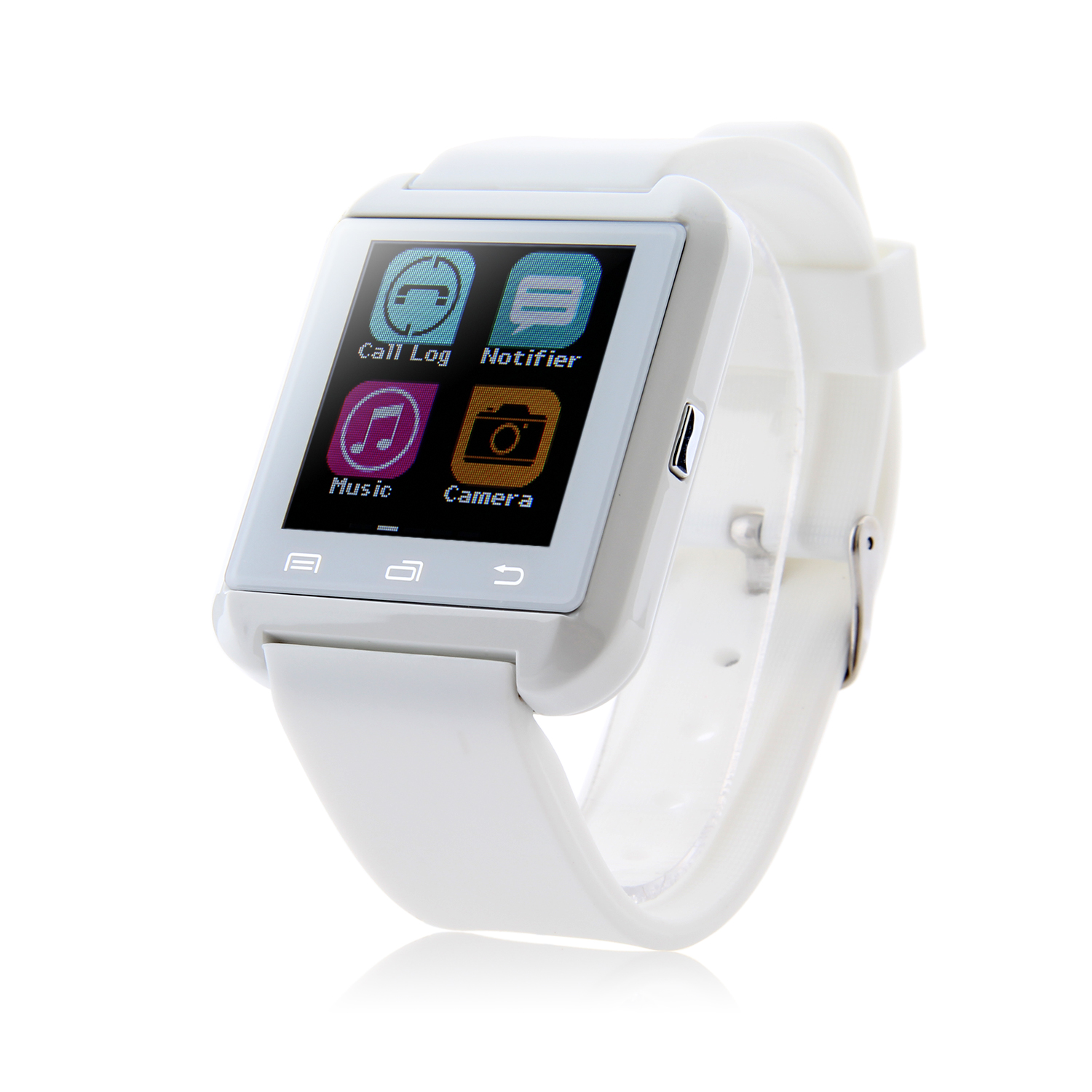 "U Watch U8 Plus Smart Bluetooth Watch 1.44"" Screen for iOS & Android Smartphones White"