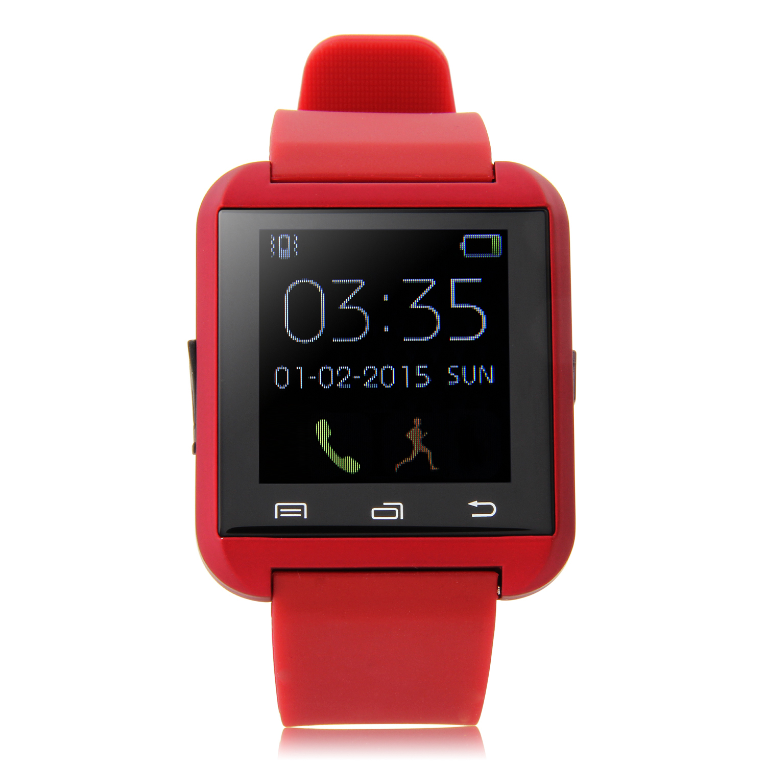 "U Watch U8 Smart Bluetooth Watch 1.44"" Screen for Android Smartphones Red"