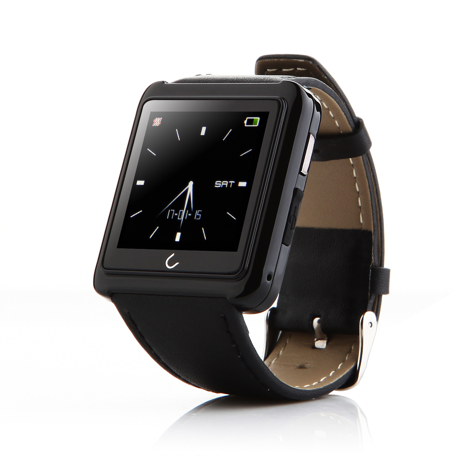 "U Watch U10 Smart Bluetooth Watch 1.54"" Screen for iOS & Android Smartphones Black"