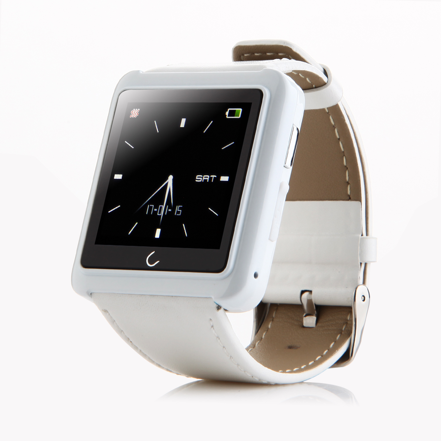 "U Watch U10 Smart Bluetooth Watch 1.54"" Screen for iOS & Android Smartphones White"