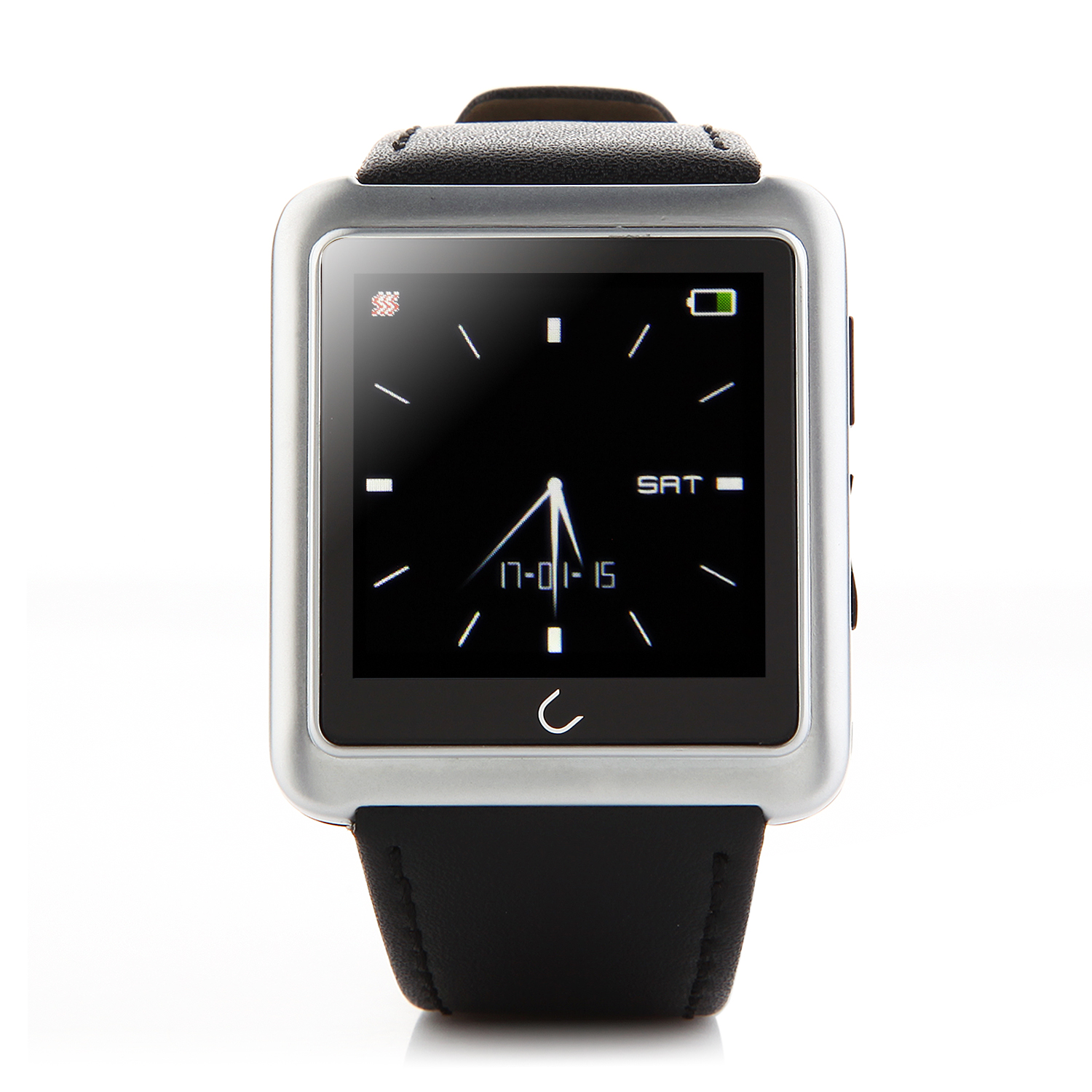 "U Watch U10 Smart Bluetooth Watch 1.54"" Screen for iOS & Android Smartphones Silver"