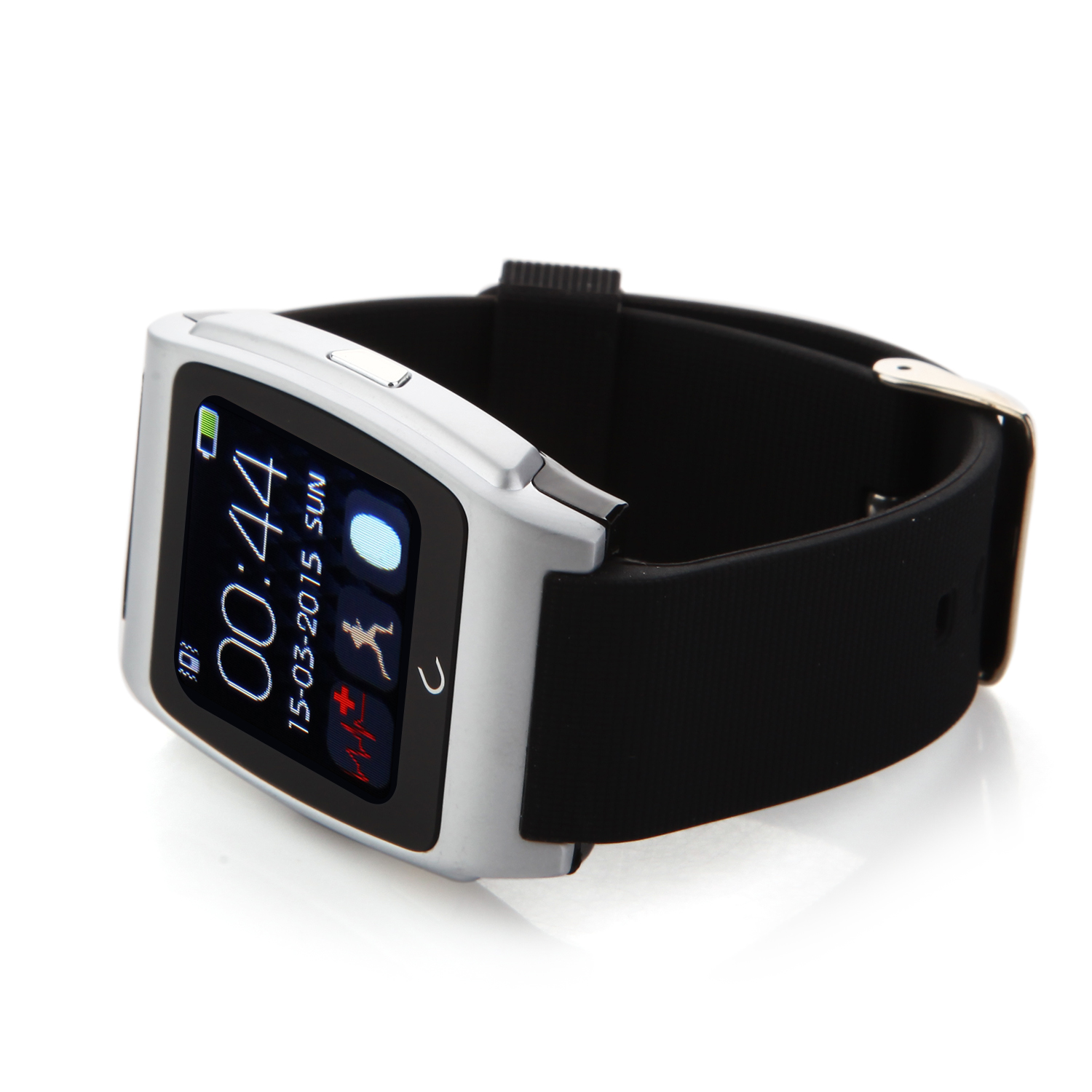 U Watch UX Bluetooth Watch Heart Rate Monitor for iOS And Android Smartphones Silver