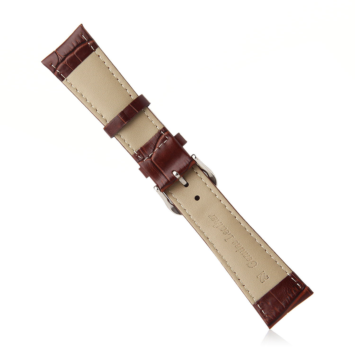 Crocodile Split Leather Buckle Watch Bands Straps For Apple Watch 38mm&42mm Brown