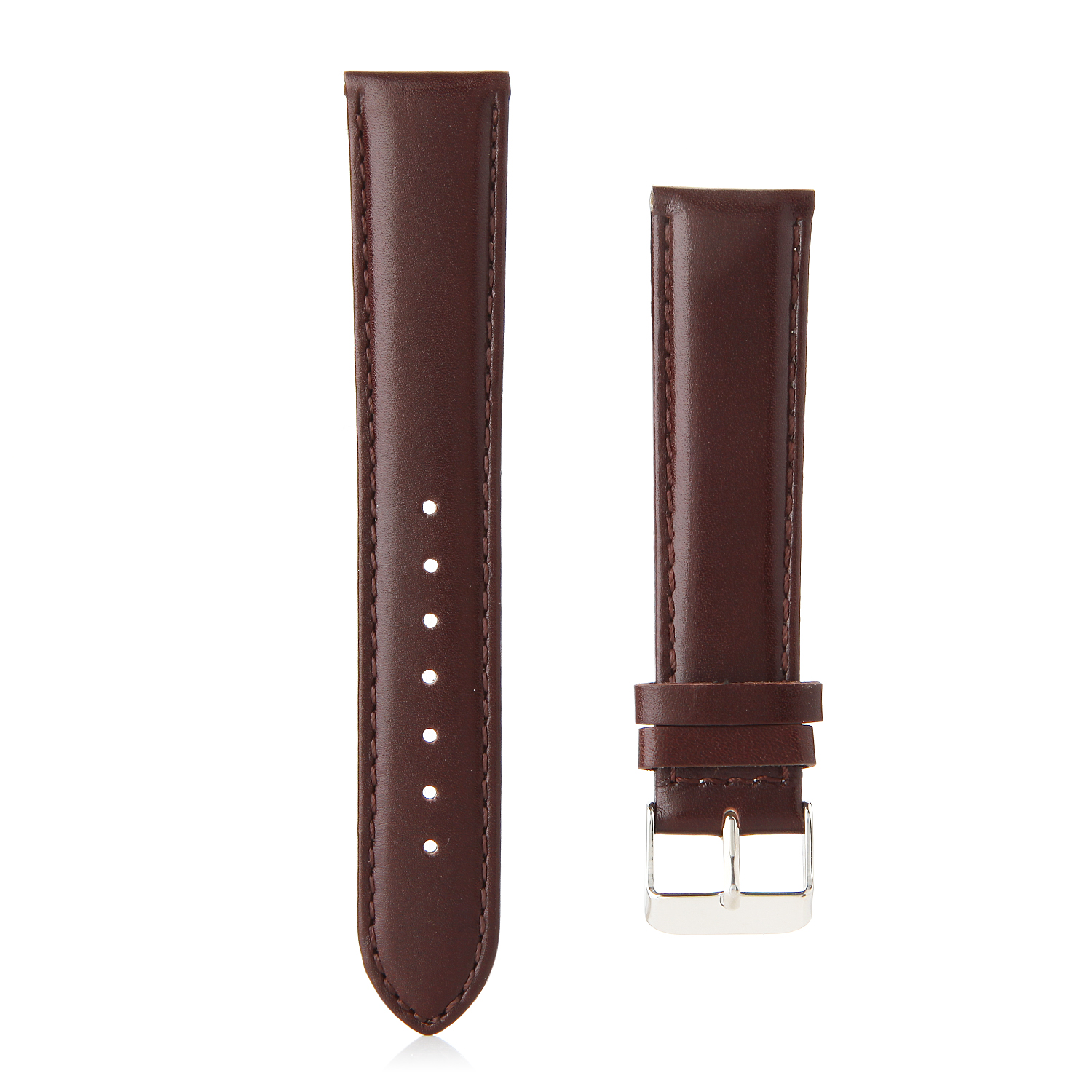 Top Layer Leather Buckle Watch Bands Straps For Apple Watch 38mm&42mm Dark Brown