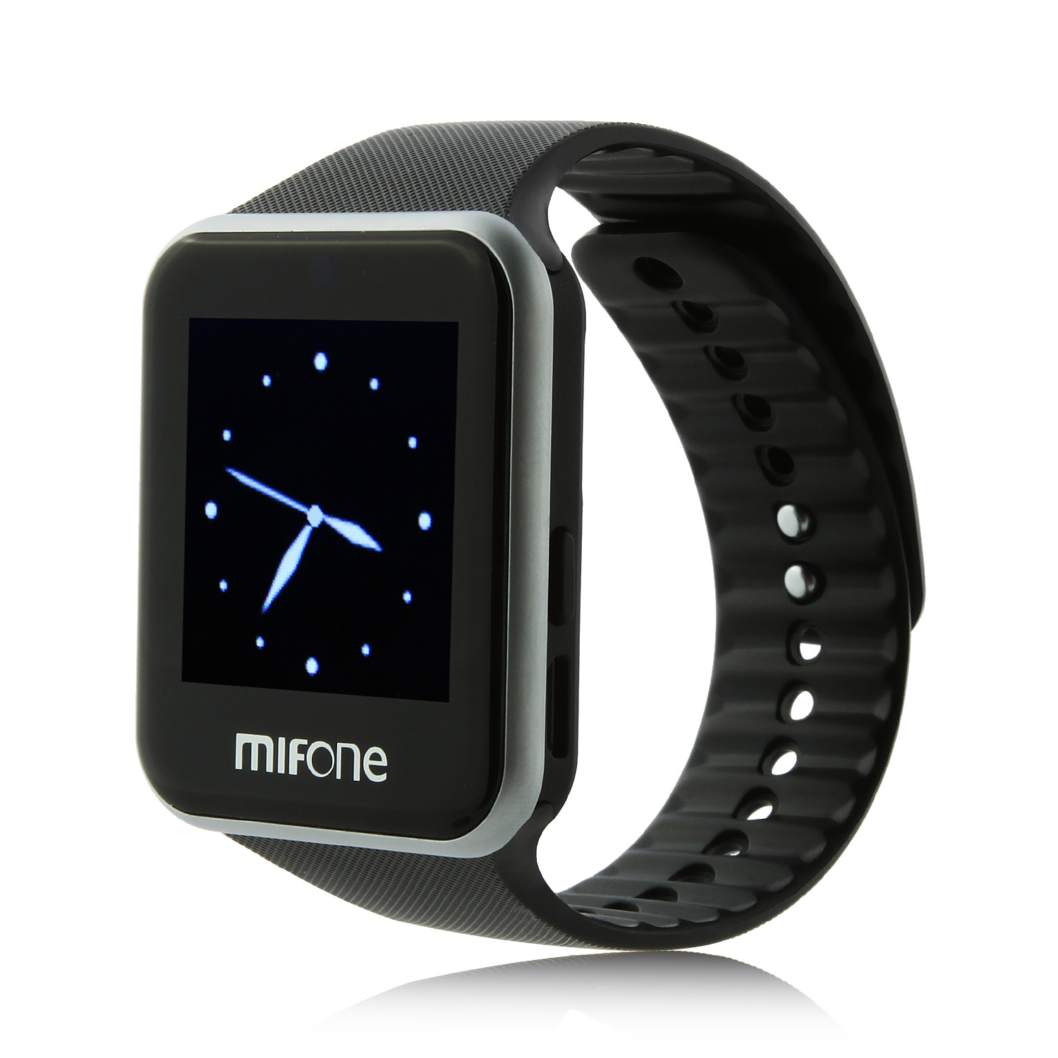 "MIFone W15 2.5D Sapphire Glass Smart Bluetooth Watch 1.5"" Screen TPSiV Safe Strap Black"