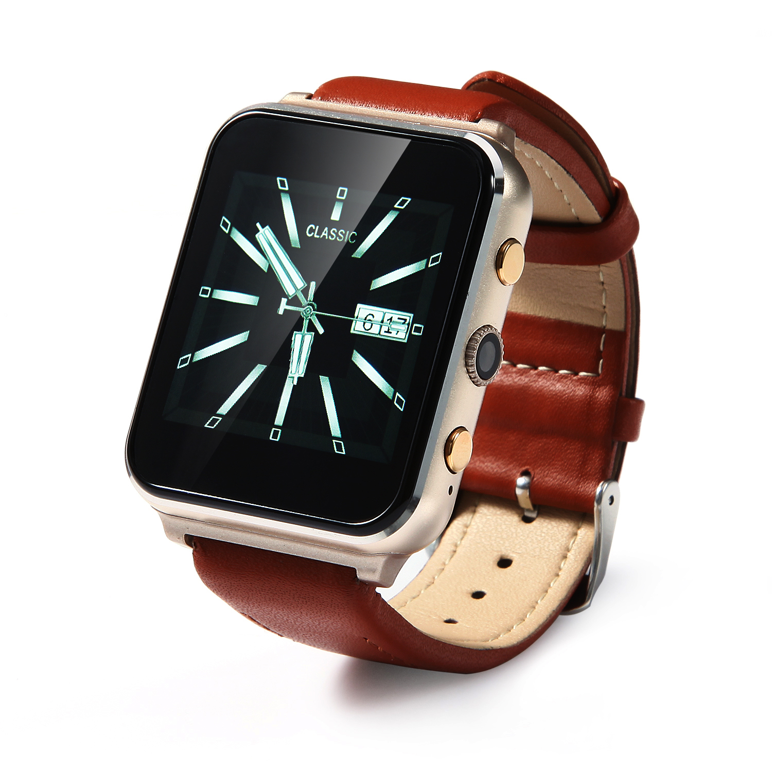 iLepo 400 Watch Phone Smart Bluetooth Watch MTK6261A 1.54 Inch for Android iOS Gold