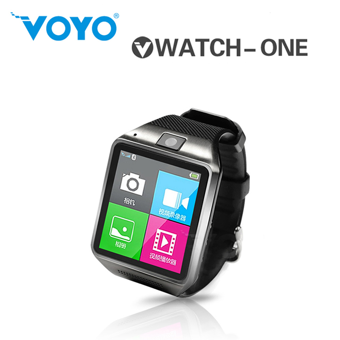 VOYO Vwatch-one Bluetooth Watch Phone 0.3MP MTK6260A 1.5 Inch for Android iOS Phone