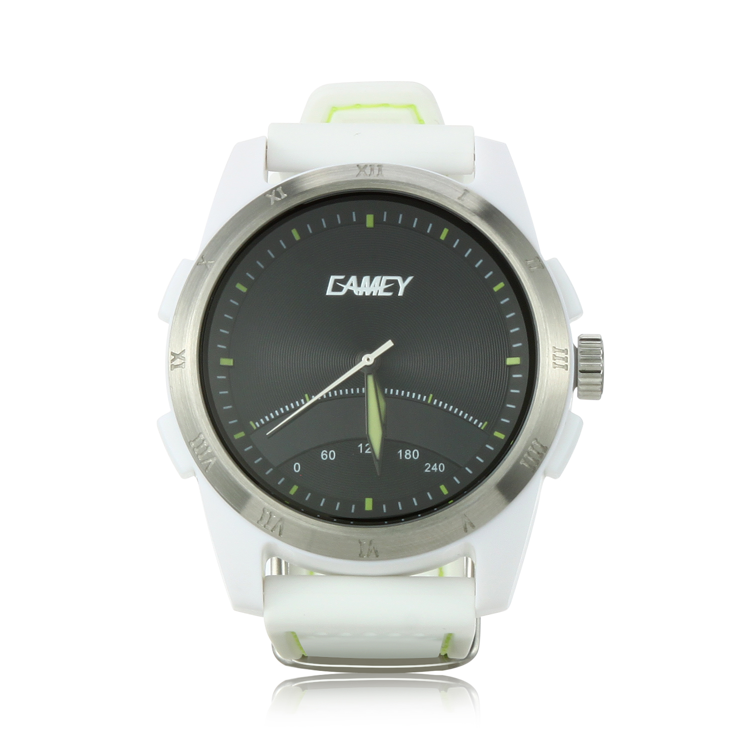 EAMEY Unik 2 Smart Sports Watch 5ATM Dual Movement Dual Battery for Android iOS White