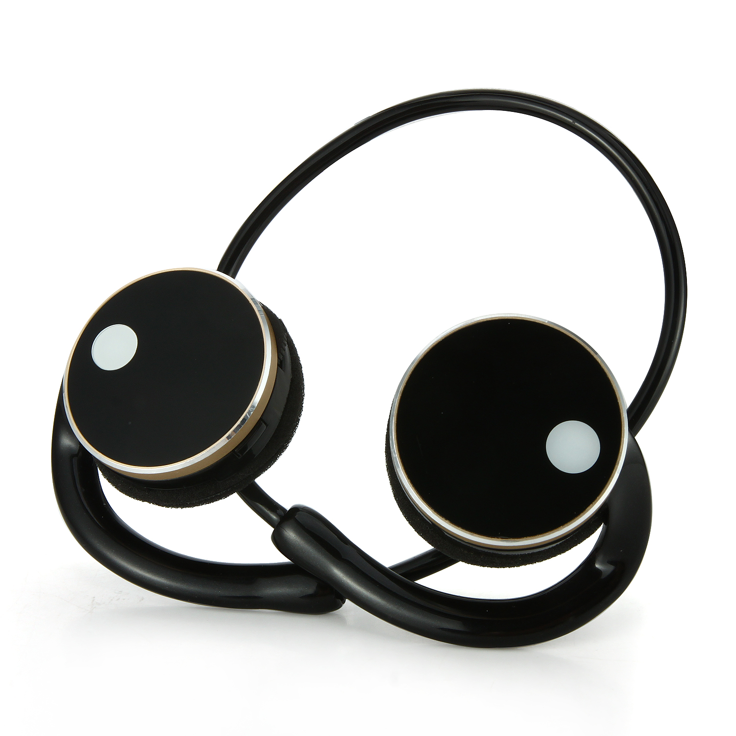 MeGoo2 Wireless Bluetooth Earclip Headphones with Handsfree Calling MP3 Pedometer Black