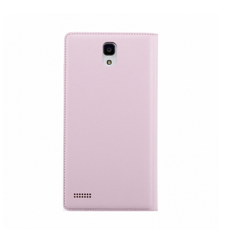 Original XIAOMI Protective Flip Cover Plug-in Leather Case for Redmi Note Pink