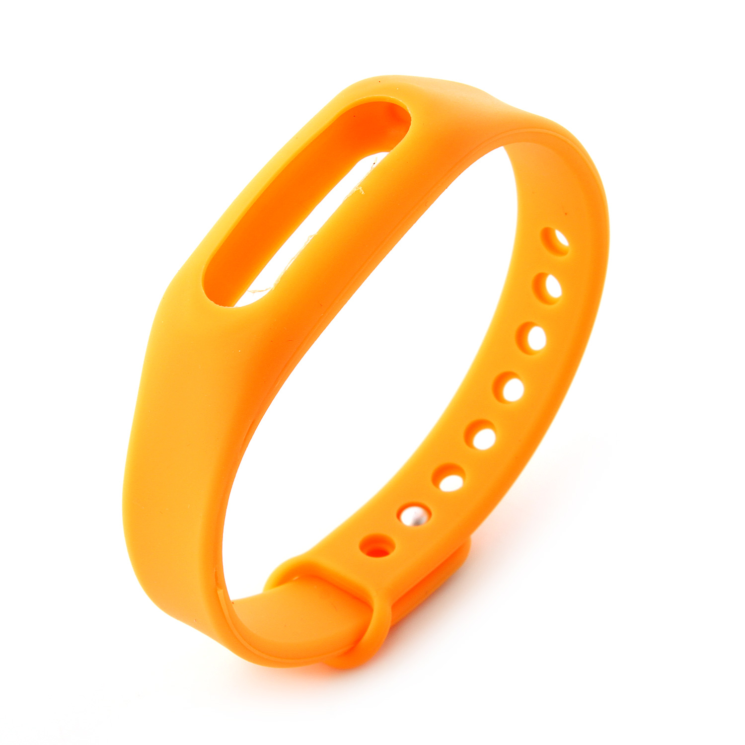 Replacement Wrist Strap Wearable Wrist Band for XIAOMI MI Band Bracelet- Orange